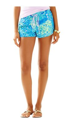 Luxletic Weekender Run Around Short - Lilly Pulitzer Sea Blue Lillys Lagoon