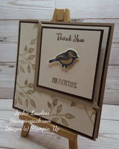 How to make a corner fold card using Stampin' Up's Petal Palette