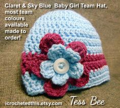 Your place to buy and sell all things handmade Handmade Baby Gifts, New Baby Gifts, Hat Flower, Baby Girl Hats, Cute Hats, Crochet Baby Hats, Baby Month By Month, Photo Props