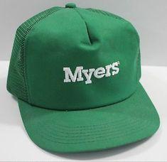 8731dbe3353 Vintage Trucker Hat Myers Mesh Snapback K Products