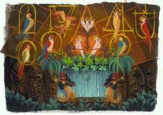 Art Disney, Disney Artwork, Disney Nerd, Tiki Room Disney, Disney Paintings, Disney Pins, Disney Stuff, Décor Tiki, Tiki Art