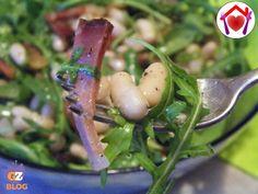 Con l'arrivo della primavera ho voluto preparare un piatto unico, gustoso e saporito: insalata di fagioli e rucola.