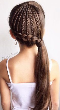 little girls long braid hairstyle