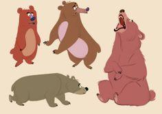 Borja Montoro Character Design: The bear necesity