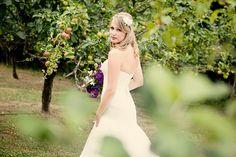 Posing bride in orchard Farm Fun, Poses, Bride, Wedding Dresses, Inspiration, Fashion, Wedding Bride, Bride Gowns, Wedding Gowns