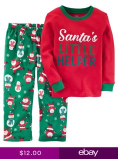 6b2f37a01 2-Piece Fleece Christmas PJs