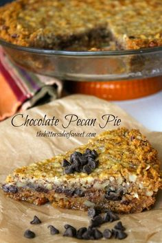 Chocolate Pecan Pie on MyRecipeMagic.com is perfect for your holiday dinner! #pie #pecan #chocolate