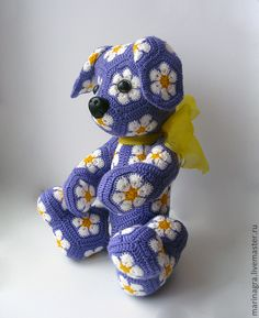 Ideas Crochet Patterns Amigurumi Free African Flowers For 2019 Crochet Patterns Amigurumi, Crochet Motif, Crochet Dolls, Crochet Flowers, Crochet For Kids, Crochet Baby, Crochet Crafts, Crochet Projects, African Flower Crochet Animals