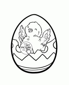 Chick In The Easter Egg Coloring Page For Kids Pages Printables Free