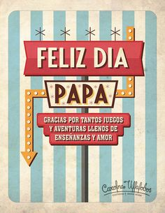 Happy father's day // Feliz día Papá // #FathersDay #DiadelPadre #FelizDiadelPadre #Illustration #Ilustracion #Retro