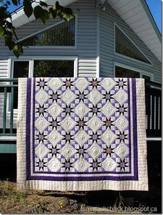 6745be1ef2 This is Gail s Tennessee Waltz quilt and I love the soft purple and cream  fabrics she used to piece it. It is a very traditional quilt.
