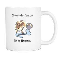 Aquarius Cat Zodiac - Mug