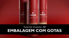 TUTORIAL EMBALAGEM COM GOTAS | Cinema 4D