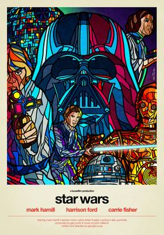 TieFighters — Star Wars - Stained Glass Created by Van Orton...
