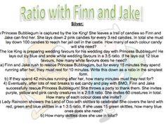 Ratio Practise - Adventure Time Theme! by CaptainLoui - Teaching Resources - Tes