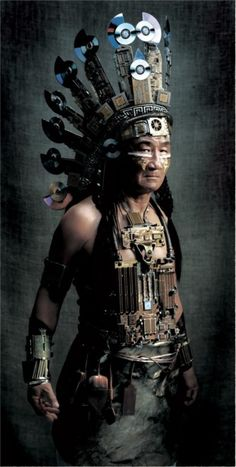 Steampunk Native American Not STEAMPUNK aka Mad Max . It was from an add campaign in Australia. (its made with computer parts please stop calling it Steampunk)