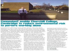 Churchill College Reduce Environmental Risk to Porters Working Alone