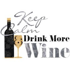 RoomMates RMK2373SCS Keep Calm and Drink Wine Quote Peel and Stick Wall Decals, 1-Pack - Amazon.com