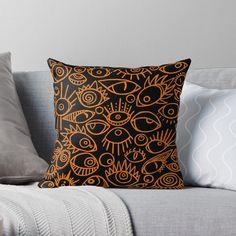 Spooky Eyes, Original Art, Cushions, Throw Pillows, The Originals, Prints, Color, Design, Toss Pillows