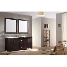 "Northampton 72 Double Bathroom Vanity Set bellaterra 72"" double sink vanity in wood-espresso 