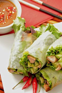 Asian food Vietnamese Springrolls....Love making these!!! So easy, yummy, and healthy!!