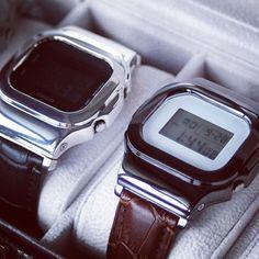 G-Shock 5600シリーズ専用レザーバンドアダプター  Leather band adapter for g-shock DW/GB-5600  #damue #madeinjapan #fashion #mens #jewelry #gshock #casio #star #cross #skull #ring #bangle #fragment #custom #watch #時計 #ファッション #ジュエリー #アクセサリー #ダミュー