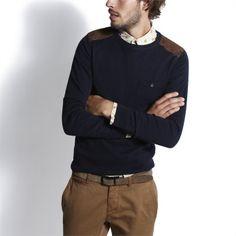 Pul col rond Bleu Marine homme – la mode homme sur Jules.com