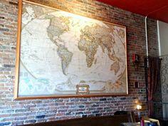 Taloola Café, Windsor, ON // Sweet Spontaneity Windsor, Vintage World Maps, Wanderlust, Adventure, Sweet, Painting, Art, Painting Art, Paintings