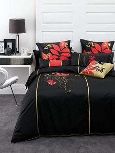 KOO Florence Quilt Cover Set Florence King Reg: $119.99   New ... : black quilt covers - Adamdwight.com