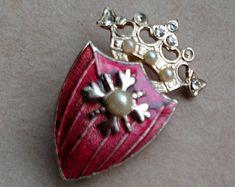 Coro Vintage Jewelry Religious Pin - Coro Vintage Salvation Army Pin - Coro Vintage Costume Jewelry Pin - Coro Elegant Pin - Free Shipping