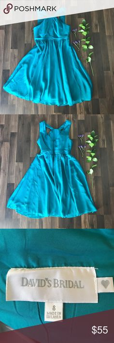 Davids Bridal bridesmaid dress Davids Bridal teal bridesmaid dress. Size 8. Worn twice. Dresses