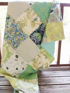 Toddler Bed Quilt with Minky Dot, CUSTOM-quilts, baby toddler, bedding, patchwork quilt, blanket, bedroom decor, minky dot, plush heavy luxuriou, green, filligree, custom, patricia bravo, southern charm, children, handmade, handcrafted, high quality childrens bedding