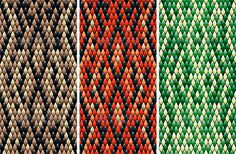 Seamless Snakeskin Pattern #GraphicRiver Set of seamless snakeskin pattern in three color variations drawn with linear gradients. EPS10, AI10 – all layers named and separated. All images fully editable. No transparency effects and gradient meshes used. High resolution TIFF 10866*7087. Just select layer with any color and drop to swatches panel. Created: 30October13 GraphicsFilesIncluded: VectorEPS #AIIllustrator #TIFFImage Layered: No MinimumAdobeCSVersion: CS Tags: AnimalSkin #abstract…