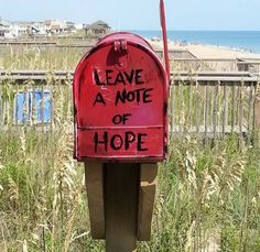 Little Red Mailbox, Kill Devil Hills NC, Glenmere Beach Access, MP8.......mailbox of hope