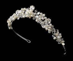 Freshwater Pearl and Rhinestone Bridal Tiara - on Sale at  affordableelegancebridal.com Accesorios Para Boda eedb4fb95535