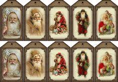 Vintage Santa Printables