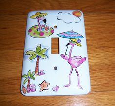 Pink flamingo's on vacation steel single by MoanasUniqueDesigns, $10.00