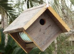 Primitive Rustic Coffee Can Birdhouse  by PrimitiveWoodworks, $18.00