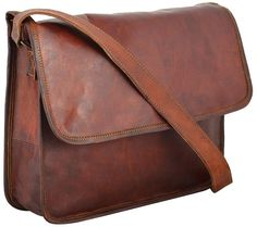 Rustic Leather Village Goat Vintage Leather Messenger Satchel 9*11*3.5 Inches *** To view further for this item, visit the image link. (This is an Amazon Affiliate link)