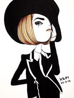 Kapi - illustration - girl - http://communiday.com/illustration/kapi/