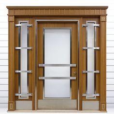 Mobilyanın paslanmazla buluşması mobilya görünümlü apartman giriş Kapıları,