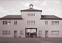 "Foto: Eingang zum Häftlingslager ""Turm A"""