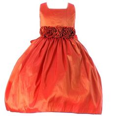 Sweet Kids Girls Orange Taffeta Easter Spring « Clothing Impulse