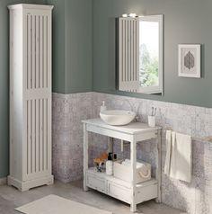Mueble Baño Urban Cottage Blanco 80 X 40 Cm Leroy Merlin Urban Cottage Bathroom Bathroom Vanity
