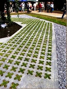 Paving Expert - AJ McCormack and Son - Reinforced Grass Paving Garden Paths, Garden Art, Garden Landscaping, Landscape Architecture, Landscape Design, Pavement, Dream Garden, Garden Inspiration, The Great Outdoors