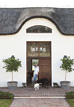 15 Ideas For Farmhouse Exterior Brick Entrance Cape Dutch, Porche, Architecture Details, Modern Rustic, Rustic Farmhouse, My Dream Home, Exterior Design, Stucco Exterior, Curb Appeal