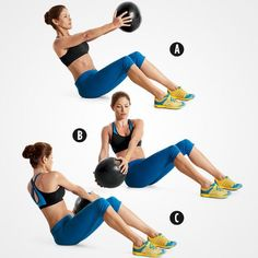 Fitness Tips : Find out how to perform this move—and 7 more!—in this great workout. Band Workout, Abs Workout Video, Abs Workout Routines, Workout Tips, Workout Videos For Women, Abs Workout For Women, Buddy Workouts, Ab Workouts, Workout Kettlebell