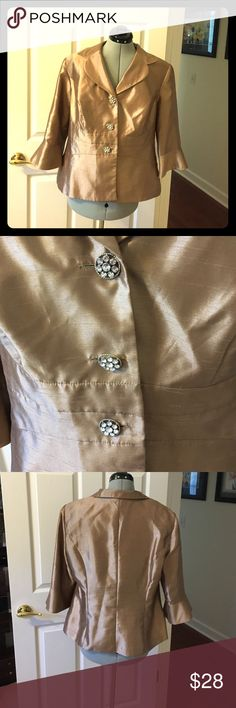 Dana Kay plus size formal jacket Beautiful formal jacket with 3/4 length sleeves and fancy buttons. Size 16 and great condition dana kay Jackets & Coats