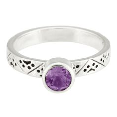 HSUS Sterling & Amethyst Balinese Paw Ring at The Animal Rescue Site