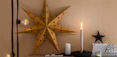 Här hittar du all inredning som hör julen till. Candle Sconces, Wall Lights, Candles, Lighting, Home Decor, Granite Counters, Dekoration, Appliques, Decoration Home